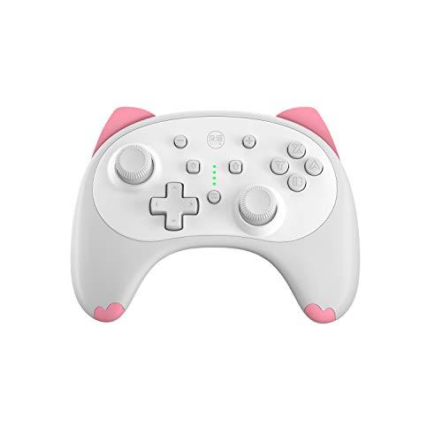 IINE Cartoon Kitten Wireless Controller für Nintendo Switch/Lite White,Small Size