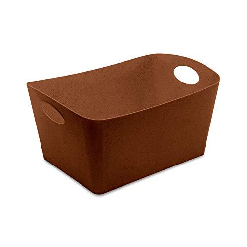 Koziol 5743674 Boxxx L Boîte de Rangement en Plastique thermoplastique Organique Rusty Steel 15 l
