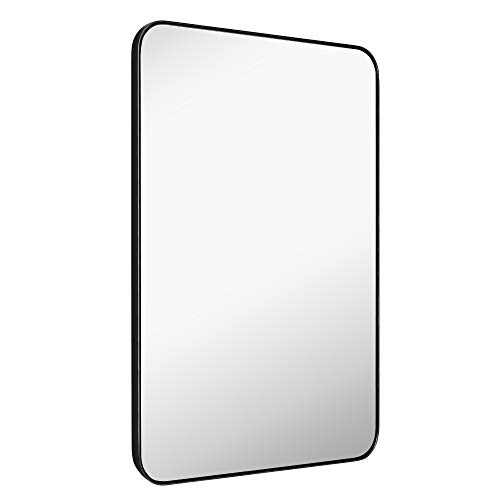 MIRROR TREND 22 x 30-Inch Large Rectangular Wall Silver Mirror with Glass -