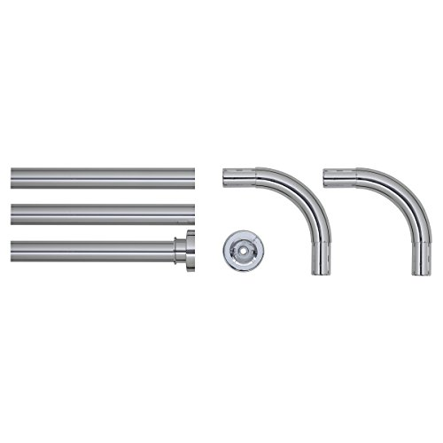 Sealskin Barra Angular Universal para Cortina de Ducha, 2.8 x 2.8 x 90 cm, Acero Inoxidable, Cromo
