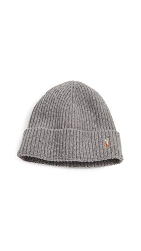 Polo Ralph Lauren Men's Signature Cuff Hat, Fawn Grey Heather, One Size
