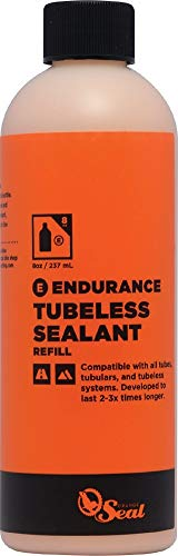 Orange Seal Endurance Formula Bicycle Tire Sealant for Road, Mountain Bike, CX, BMX, and Tri Bikes (16 oz)