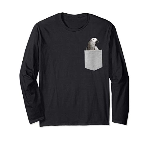 Animal in Your Pocket Funny Jaco or african gray parrot peek