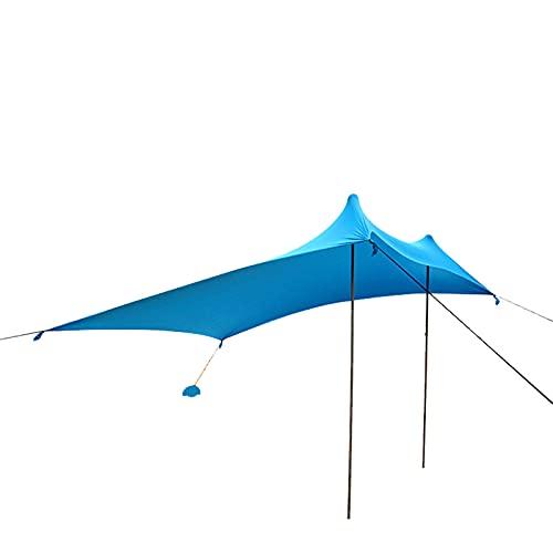DFLKP Carpa de Playa emergente Refugio para el Sol UPF50 + Estabilidad Sombra al Aire Libre para Viajes de Campamento Pesca Diversión en el Patio Trasero o picnics,Azul,300x300cm