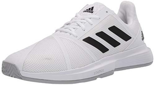 adidas Men's CourtJam Bounce Tennis Shoe, FTWR White/core Black/Matte Silver, 9.5 M US