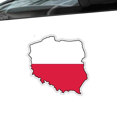 Etiqueta engomada creativa del coche Polonia Mapa Bandera Accesorios Vinilo Calcomanía Cubierta...
