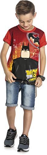 Camiseta M. Malha Pent, Teen Titans Go!, Meninos, Vermelho, 10