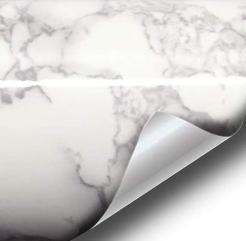 VViViD White Grey Marble Architectural Vinyl Wrap 16 Inch x 30 Inch Surface Roll (3 Roll Pack)