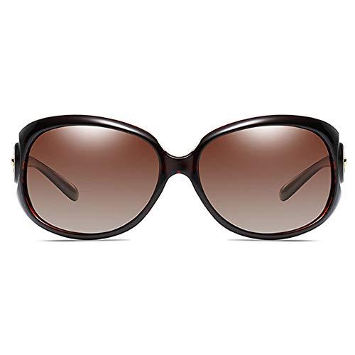 Stella Fella Clásico Antideslumbrante Polarizado Material De PC UV400 Gafas De Sol De Tendencia Negro/Rojo Vino/Marrón/Café/Champagne Modelos Femeninos con Gafas De Sol (Color : Black)