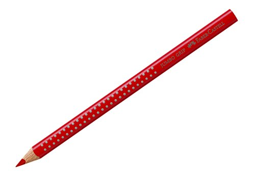 Faber-Castell 110921 - Buntstift Jumbo Grip, geraniumrot hell