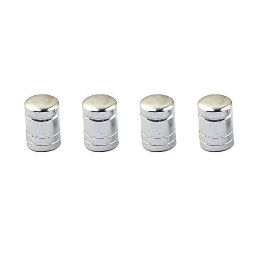 Rycnet Ventilkappen, Aluminium, für Auto, Motorrad, Fahrrad, MTB Reifen, Schrader, 4 Stück, Herren, silber