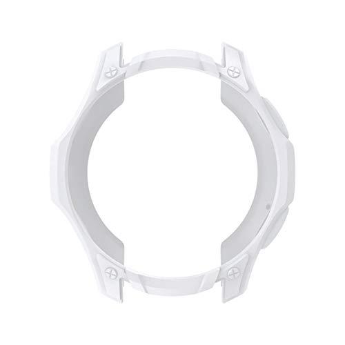 Schutzhülle Kompatibel mit Samsung Watch Gear S3 Soft TPU Kratzfest Schale Hülle DREI Proof Case [1 Stück] Leichte Schutzhülle Gehaüse Abdeckung (Weiß)