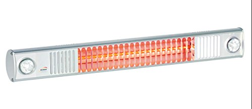"Infrarotstrahler Terrassen Strahler ""Burda Term 2000"", 2000 Watt – mit eingebautem Licht LED Spots – Alu poliert - 3"