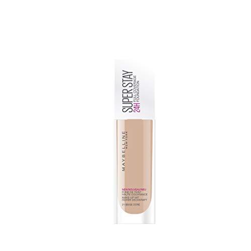 Maybelline New York - Fond de Teint Fluide - Superstay 24H - Beige Doré (21) - 30 ml