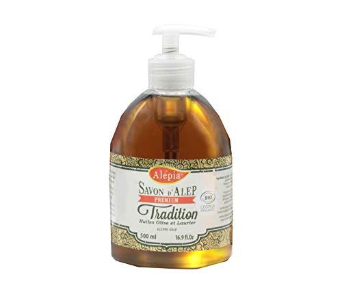 Alepia Savon d'Alep liquide Premium tradition 1% Bio laurier