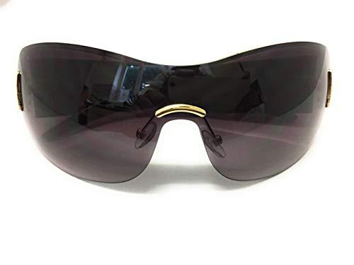GG Eyewear Damen Designer Sonnenbrille - Randloses Design - Voller UV400-Schutz - Übergroße Sonnenbrille für Damenmode - Designer Sonnenbrille- Mit Gratis shutzhülle (Schwarz)