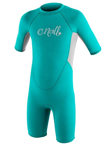 O'Neill Reactor Toddler Shorty Wetsuit Youth 2 Light Aqua/Cool Grey (5127G)
