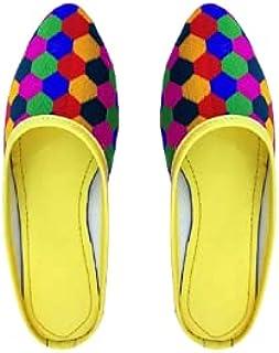 Galaxy Foot Craft Women KHILONA MULTIKAPDA Belly-Yellow (SN29)
