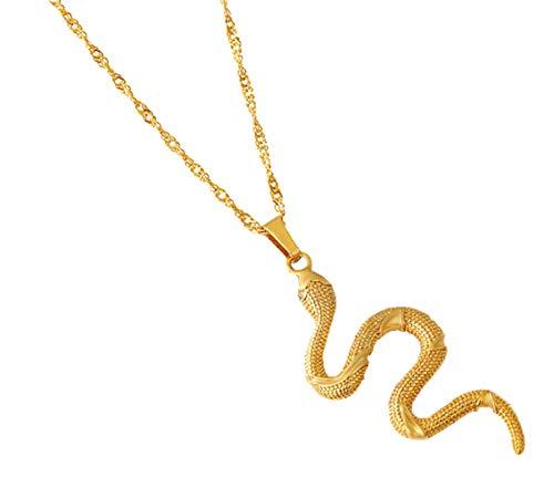 Hola, Soy Un Collar De Serpiente, Colgante, Pendientes, Anillo, Pulsera, Especialmente Diseñado Para Mujeres De Color Dorado