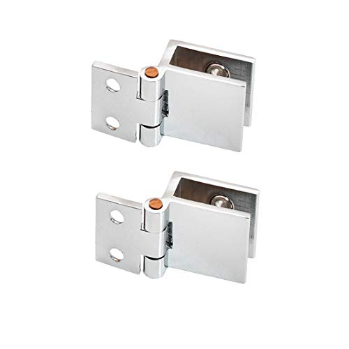 Drenky 2 STÜCKE 0 Grad Glastür Clip Clamp Scharnier Kein Bohren Glas zu Glasscharnier für Glas Dicke 5mm-8mm