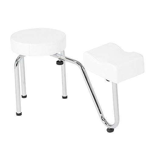 Taburete esteticista pedicura + reposapiés ajustable silla profesional estética bianco