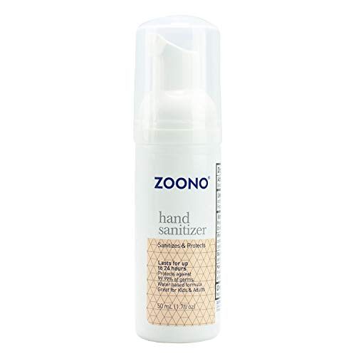 ZOONO 24 Hour Hand Sanitizer Foam - Keeps Killing 99.99% of Germs for All Day Protection - Travel Size 1.7 Fl Oz, 1-Pack