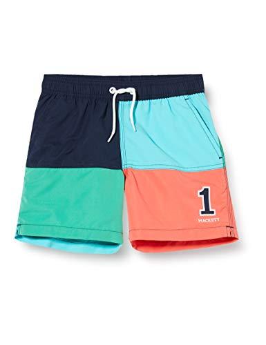 Hackett London Quad Volley B Bañador, Multicolor (Multi 0aa), 146 (Talla del Fabricante: Y11) para Niños
