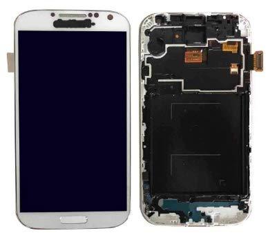 XiaoZhu Reemplazo de Pantalla táctil para Samsung Galaxy S4 Marco del Bisel del ensamblaje del digitalizador de Pantalla LCD Blanco