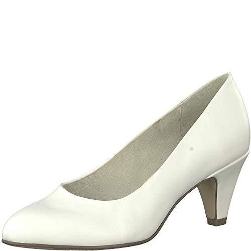 Tamaris Damen KlassischePumps 1-1-22416-22, Frauen Court-Shoes,Absatzschuhe,Abendschuhe,Stöckelschuhe,White MATT,36 EU / 3.5 UK
