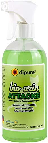 Katzenurin-Entferner - Bio Urin Attacke - Geruchsentferner mit Mikroorganismen (Katzen-Urin Reiniger, Geruchskiller, Geruchsneutralisierer, Urinfleck Entferner)