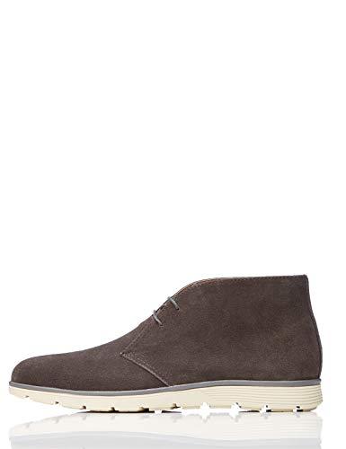 find. Leather Botas Chukka, Gris Grey, 43 EU