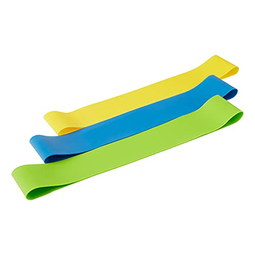 Beachbody Resistance Bands for 80 Day Obsession, Strength Workout Exercise Loops for Women & Men, Fitness for Training at Home or Gym, Light, Medium & Heavy Resistance Levels, 9 Inch, 3 Pack