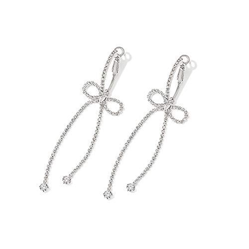 Pendientes colgantes de gota Pendientes de lazo lindo Pendientes de diamantes de imitación elegantes Pendientes de estrella vintage Pendientes bohemios Pendientes de botón para mujeres y niñas