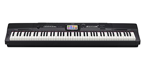 Casio PX-360BK 88-Key Digital Piano with Power Supply Black large 1