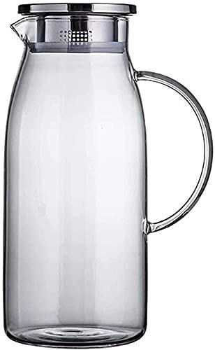 aipipl Taza de Vidrio Jarra de Hielo Tetera de Vidrio Resistente al Calor La Seguridad es Muy Adecuada para café al Aire Libre con Jugo de café al Aire Libre para el Restaurante Familiar Taza de té