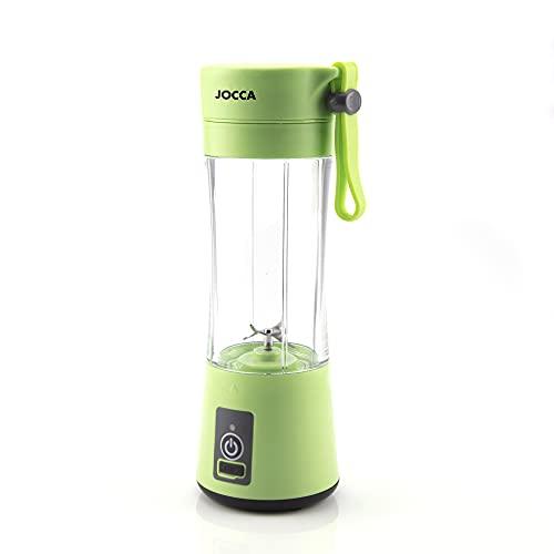 Jocca - Mini Batidora Portátil | Mini Licuadora Portátil | Recarga con USB | 380ml | Ideal para Smoothie
