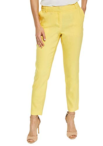 Pantalones amarillos tobilleros para mujer