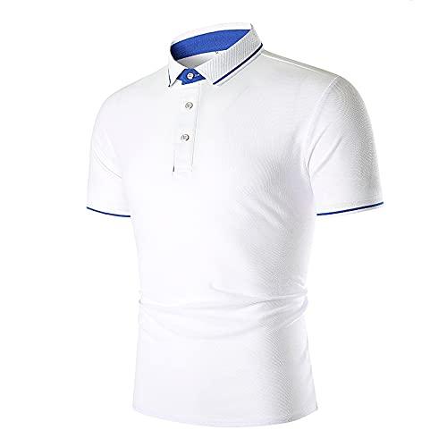 Men Polo Shirt Short-Sleeved Summer Button Placket Kent Collar Men T-Shirt...