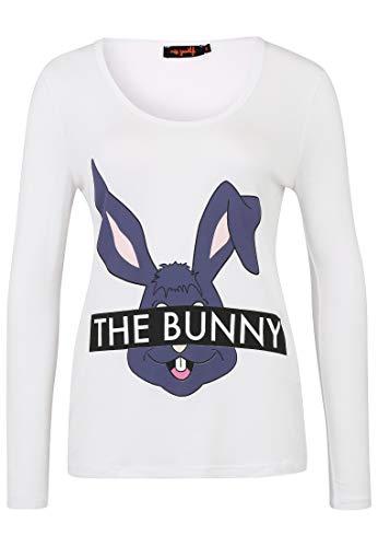 miss goodlife Damen Longsleeve The Rabbit mit Print