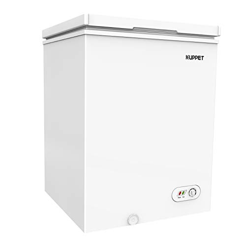 KUPPET Chest Freezer, Portable & Compact Freezer with Adjustable thermostat, for Meat, Vegetable and Drinks, Home/Camping/Party, 3.0 CU.FT (White)