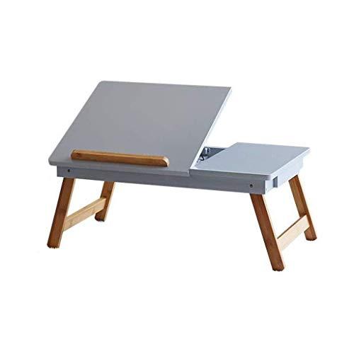 Lszdp-negozio Computer portatile Tavolo scrivania, Notebook PC Stand scrivania in legno Scrivania moderna Dormitorio pieghevole da lettura Supporto da lettura Piccolo tavolo da pranzo Divano Tavolo la