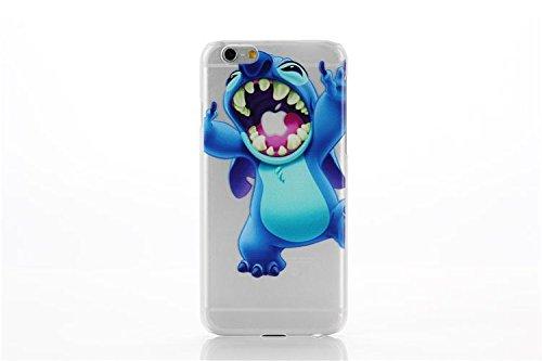 iPhone 5/5s Estuche duro / Transparente Dibujos Animados Stitch Carcasa para Apple iPhone 5s 5 / Protector de Pantalla y Paño / Chomp: Amazon.es: Informática