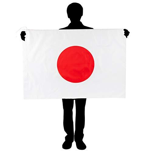 ANPHSIN 国旗 -2点セット 5号国旗 日本国旗 日の丸 日章旗 フラッグ オリンピック 祝日 新年 運動会 日本代表応援用 市民の日 スポーツ 応援グッズ ワールドカップ 60*90cm 2枚