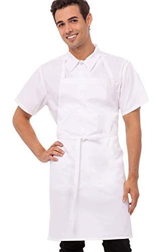 Chef Works Unisex Bib Apron, White, One Size - http://coolthings.us