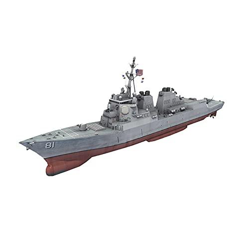 CMO Maqueta de Maquetas de Barcos, Destructor USS Arleigh Burke DDG-51 Kits Modelo de Plástico, Escala 1/350, 8,7 x 1,3 Pulgadas