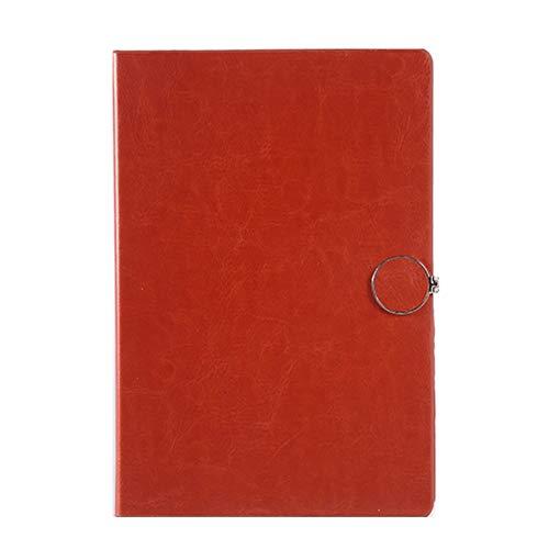 WINON Notebook,Cuaderno, Revistas A5 Notebook sorteo Diario semanal planificador de la Agenda Escuela de Gestión del Tiempo Libro Fuentes del Regalo (Color : Brown)