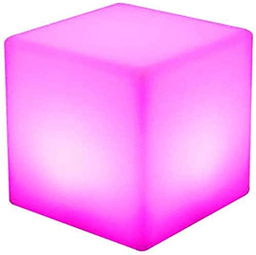 Paddia LED Luminoso Taburete Cuadrado Lámpara de patio Exterior Interior Control remoto Luz de noche mágica Fiesta 16 colores 4 Modelo Lámpara de humor de guardería para amamantar, iluminación suave c