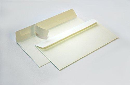 Briefumschläge DIN C6/5 114x229 mm (elfenbeinfarben) 120 g/m² ohne Fenster haftklebend (Artikel: 2120A) (100)