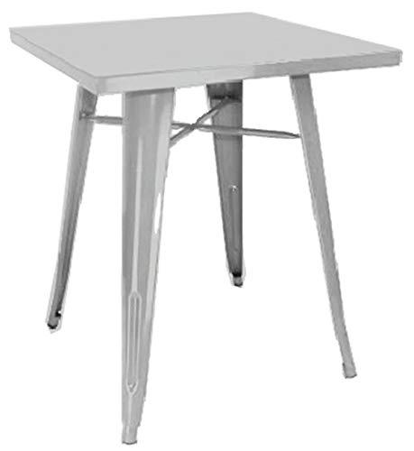 PEGANE Table en tôle galvanisée Coloris Gris - Dim : 40 x 60 x H.73 cm -A Usage Professionnel