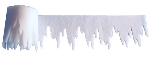 pemmiproducts Eiszapfen aus Schneewatte 475 x 30 x ca.2 cm 1er Pack, Gesamtlänge: 4,75 m (EUR 3,15/m),schwer entflammbar DIN 4102 B1, Dekoschnee